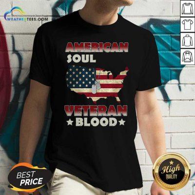 Baltimore Ravens Logo And American Flag Drop 2021 V-neck - Design By Weathertees.com