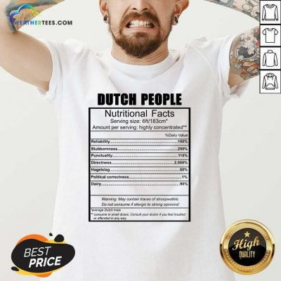 Dutch People Nutritional Facts Weight Lifting V-neck - Design By Weathertees.com