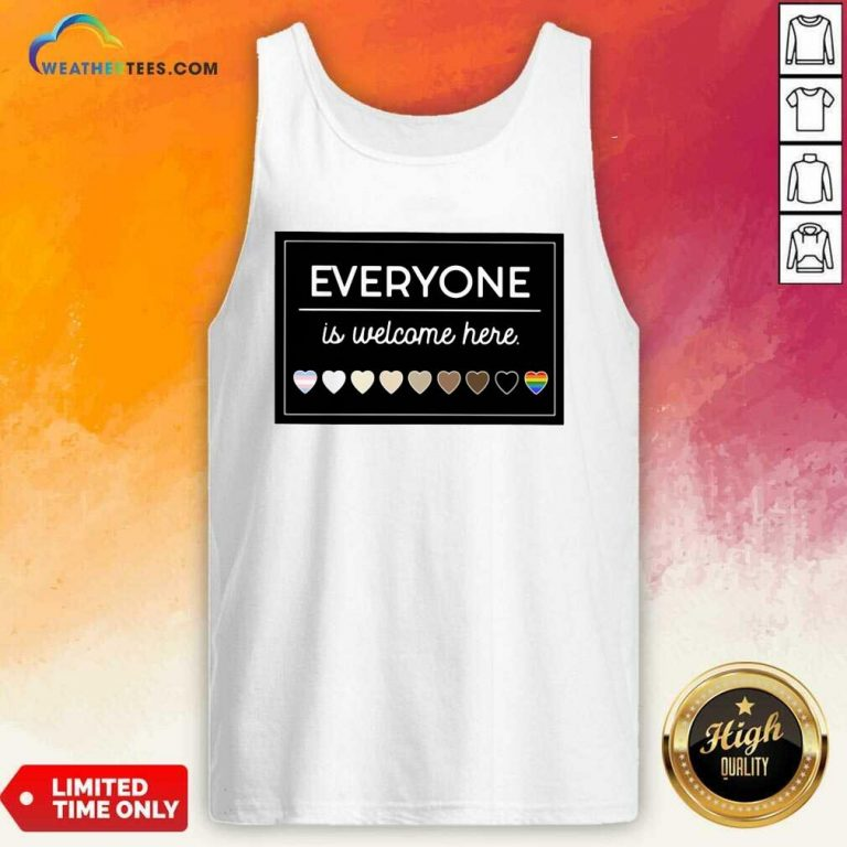 Everyone Is Welcome Here LGBT Tank Top - Design By Weathertees.com