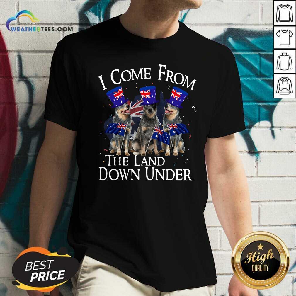 Heeler I Come From The Land Down Under V-neck - Design By Weathertees.com