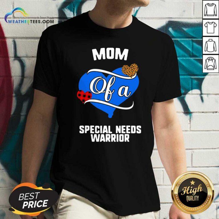 Mom Of A Special Needs Warrior Heart V-neck - Design By Weathertees.com