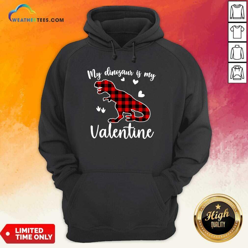 My Dinosaur Is My Valentine Hoodie - Design By Weathertees.com