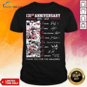 Ohio State Buckeyes Football 131st Anniversary 1890 2021 Thank You For The Memories Signatures Shirt - Design By Weathertees.com