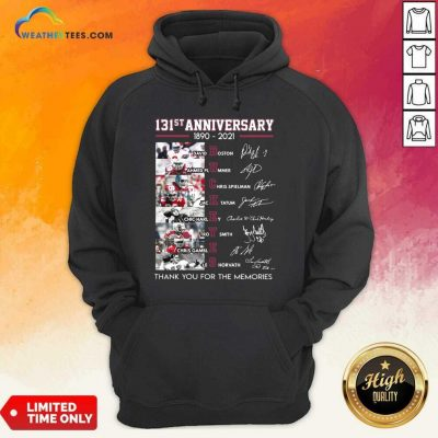 Ohio State Buckeyes Football 131st Anniversary 1890 2021 Thank You For The Memories Signatures Hoodie - Design By Weathertees.com