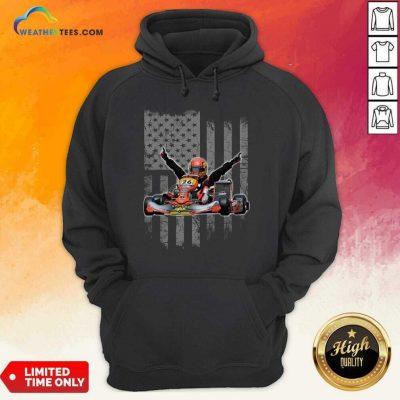 Sports Car Racing American Flag Hoodie - Design By Weathertees.com