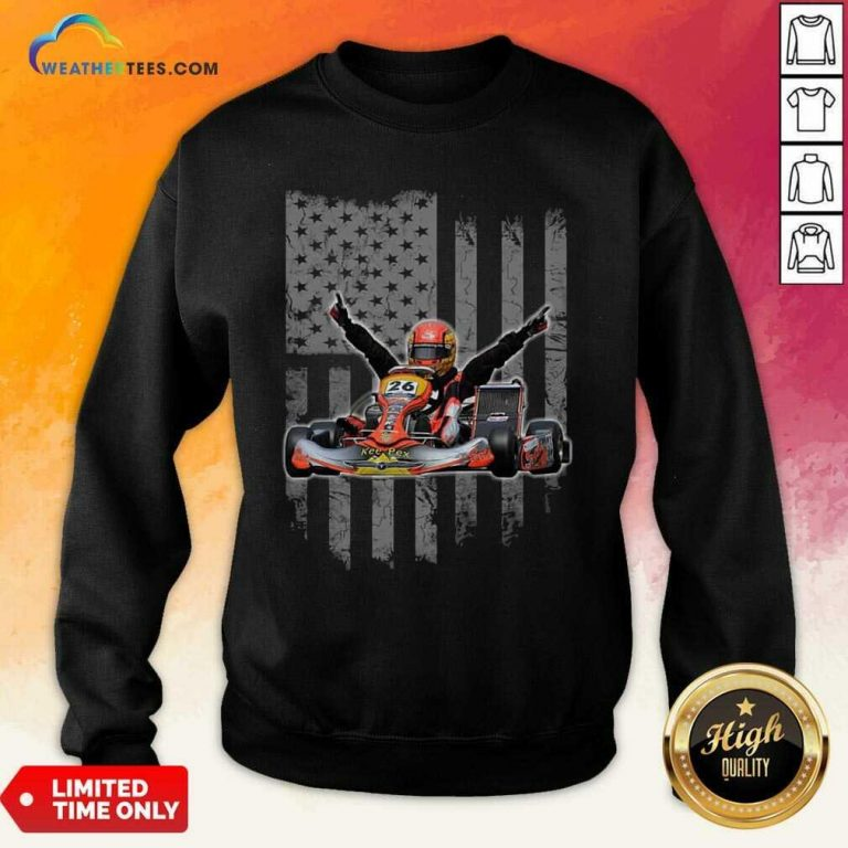 Sports Car Racing American Flag Sweatshirt - Design By Weathertees.com