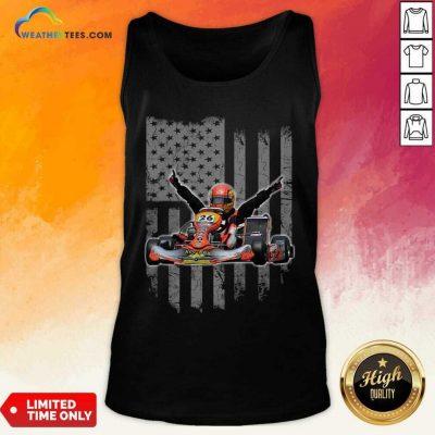 Sports Car Racing American Flag Tank Top - Design By Weathertees.com