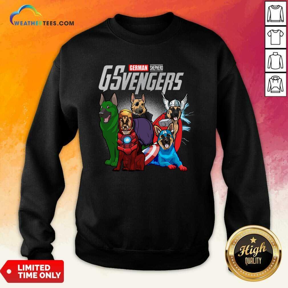 Marvel Avengers German Shepherd Gsvengers Sweatshirt - Design By Weathertees.com