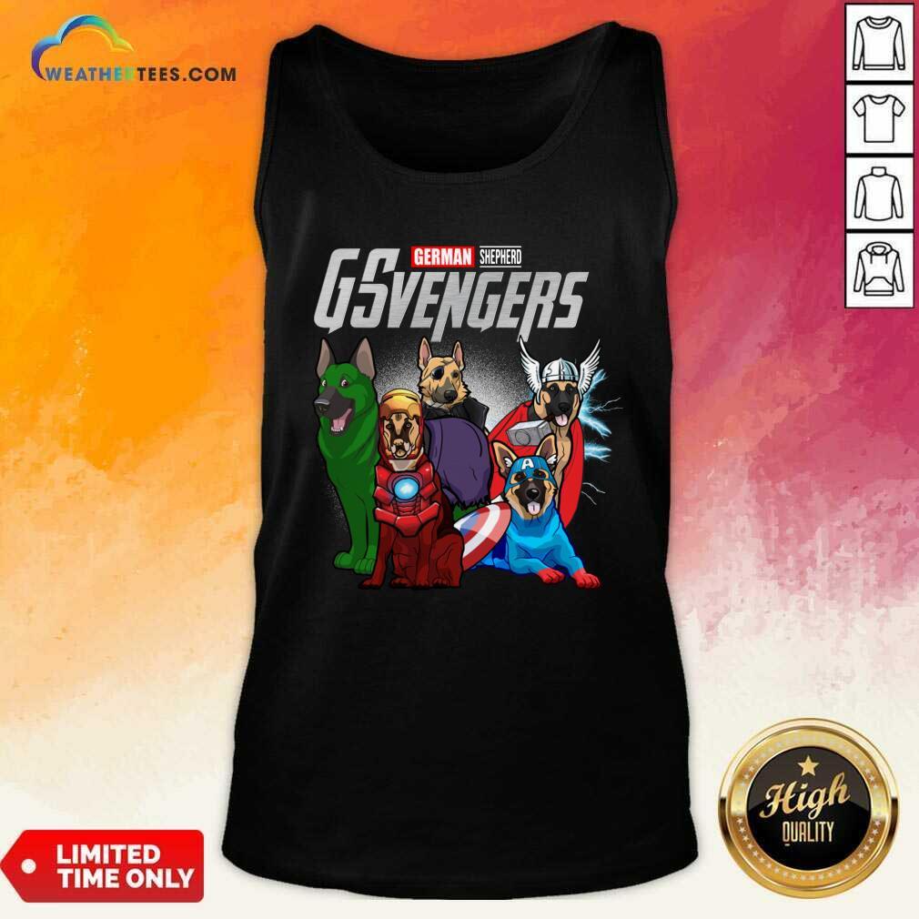 Marvel Avengers German Shepherd Gsvengers Tank  Top - Design By Weathertees.com