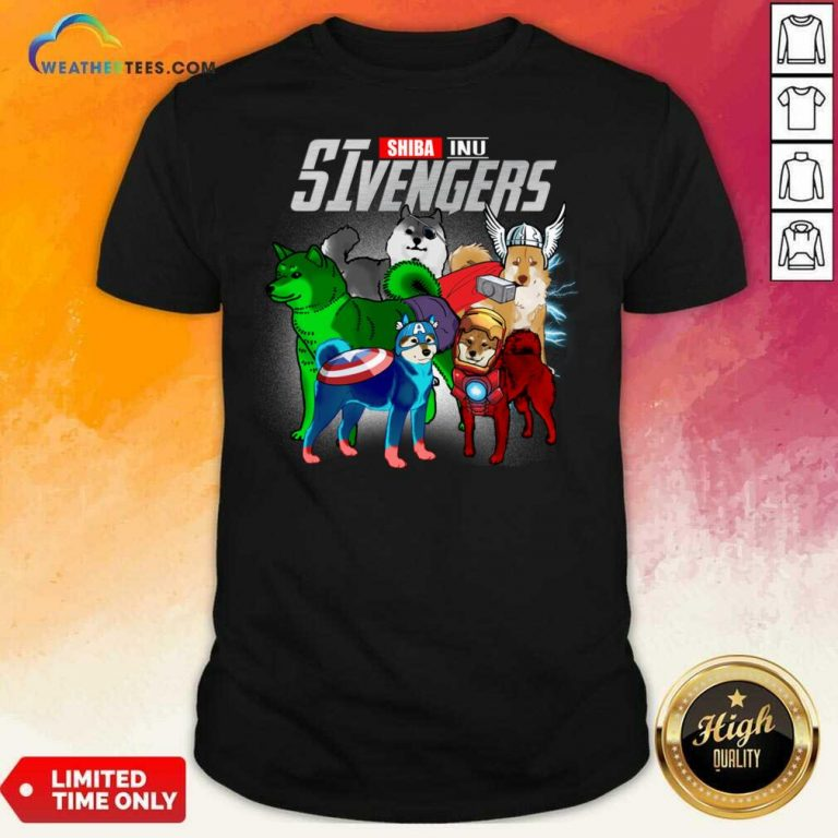 Shiba Inu Marvel Avengers SIvengers Shirt - Design By Weathertees.com