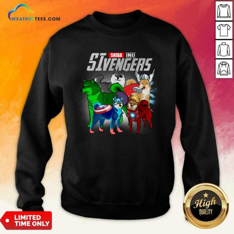 Shiba Inu Marvel Avengers SIvengers Sweatshirt - Design By Weathertees.com