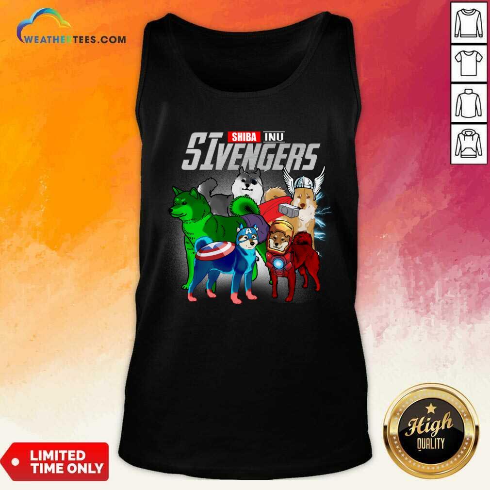 Shiba Inu Marvel Avengers SIvengers Tank Top - Design By Weathertees.com