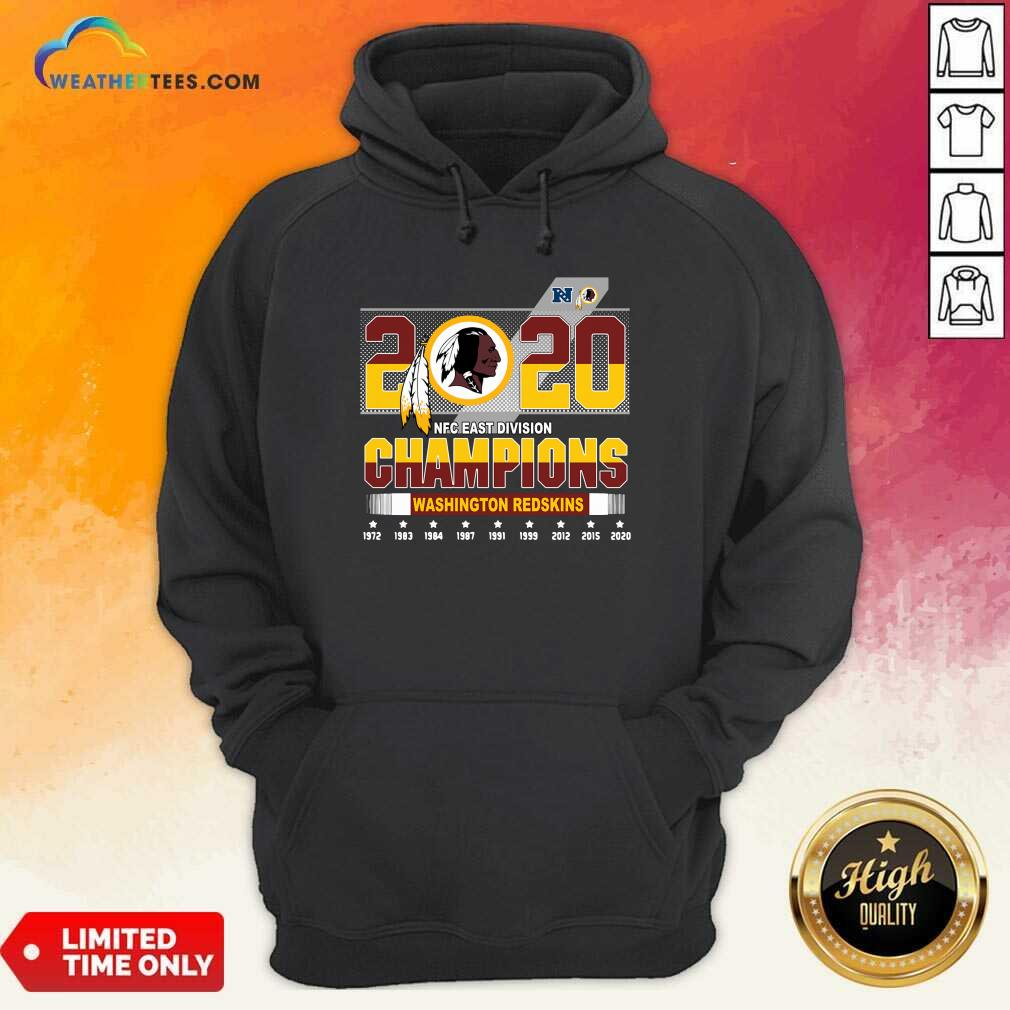 2020 NFC East Division Champions Washington Redskins Hoodie - Design By Weathertees.com