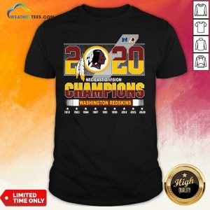 2020 NFC East Division Champions Washington Redskins Shirt - Design By Weathertees.com