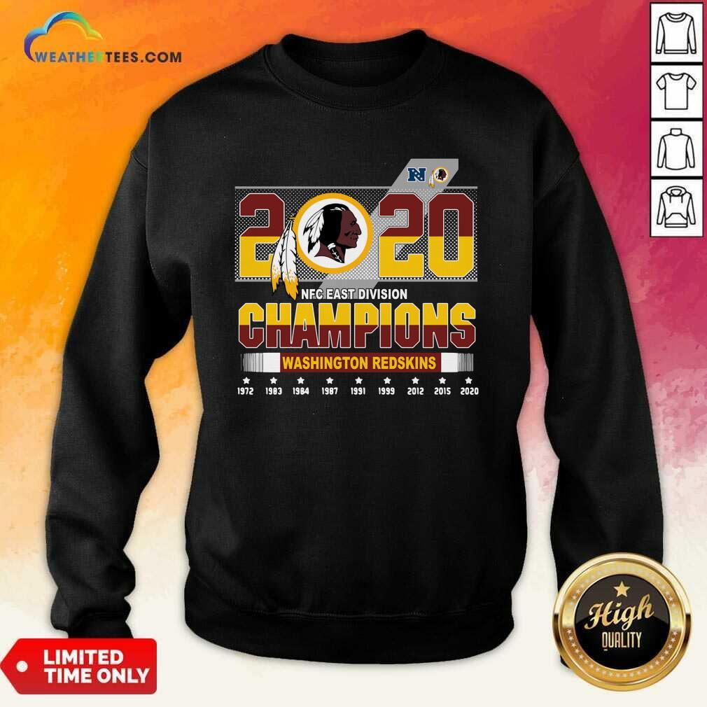 2020 NFC East Division Champions Washington Redskins Sweatshirt - Design By Weathertees.com