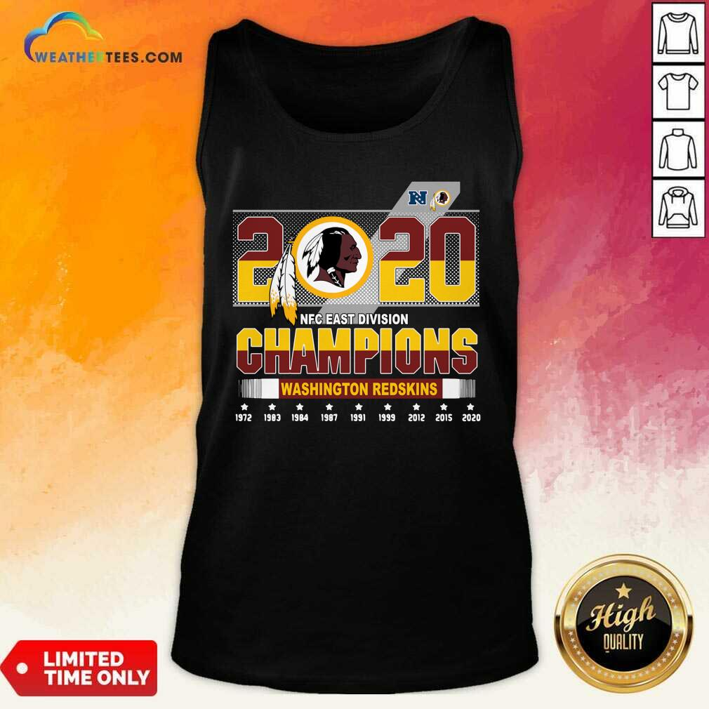 2020 NFC East Division Champions Washington Redskins Tank Top - Design By Weathertees.com