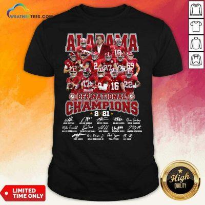 Alabama Crimson Tide CFP National Champions 2021 Signatures Shirt - Design By Weathertees.com