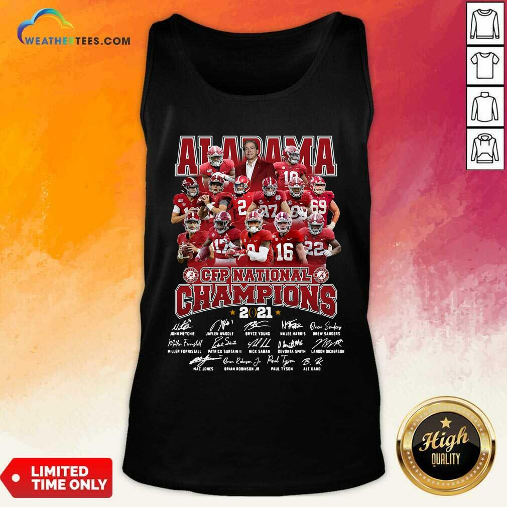 Alabama Crimson Tide CFP National Champions 2021 Signatures Tank Top - Design By Weathertees.com