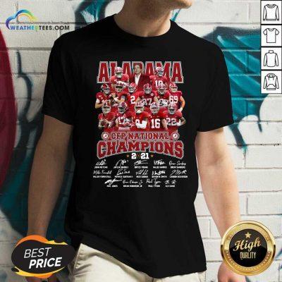 Alabama Crimson Tide CFP National Champions 2021 Signatures V-neck - Design By Weathertees.com