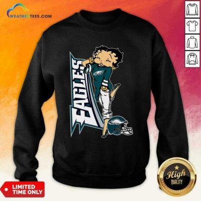 Betty Boop Philadelphia Eagles Football Sweatshirt - Design By Weathertees.com
