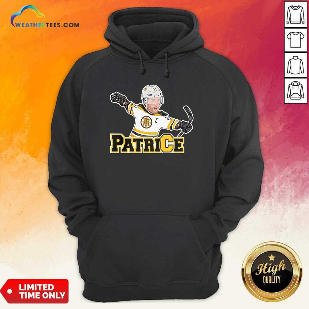 Captain Patrice Boston Bruins Hoodie - Design By Weathertees.com