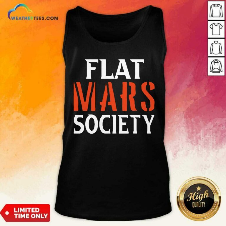 Flat Mars Society Tank Top - Design By Weathertees.com