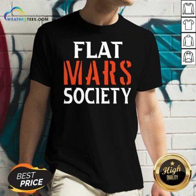 Flat Mars Society V-neck - Design By Weathertees.com