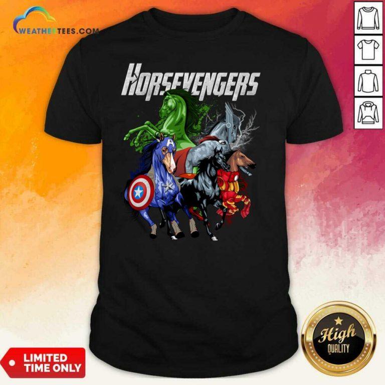 Horse Marvel Avengers Horsevengers Shirt - Design By Weathertees.com