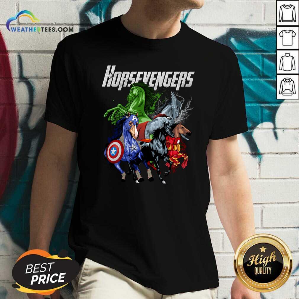 Hot Horse Marvel Avengers Horsevengers V-neck - Design By Weathertees.com