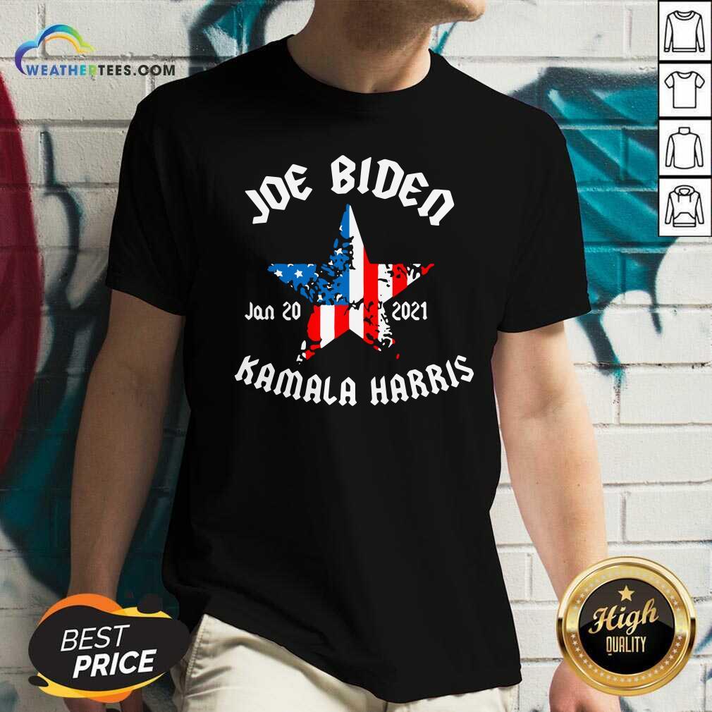 Joe Biden 2021 And Vp Harris Inauguration Day V-neck - Design By Weathertees.com