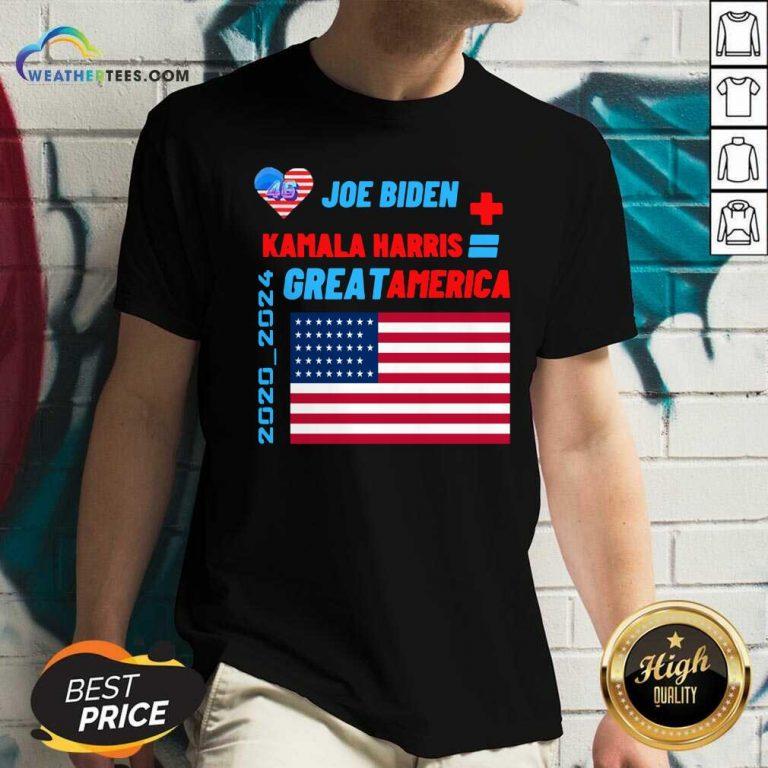 Joe Biden Kamala Harris 2021-46 President Iam Speaking Us 2021 V-neck - Design By Weathertees.com