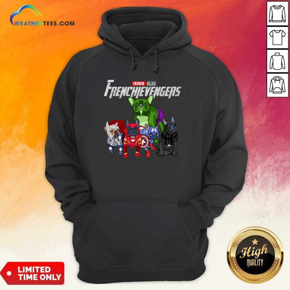 Marvel Avengers French Bulldog Frenchievengers Hoodie - Design By Weathertees.com