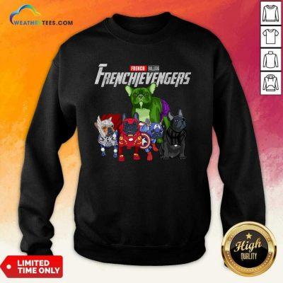 Marvel Avengers French Bulldog Frenchievengers Sweatshirt - Design By Weathertees.com