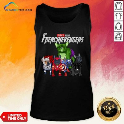 Marvel Avengers French Bulldog Frenchievengers Tank Top - Design By Weathertees.com