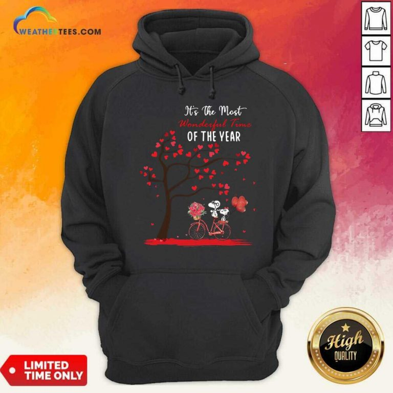 Snoopy And Girlfriend Its The Most Wonderful Time Of The Year Valentines Day Hoodie - Design By Weathertees.com