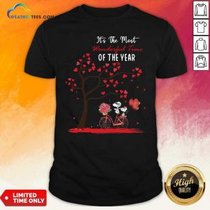 Snoopy And Girlfriend Its The Most Wonderful Time Of The Year Valentines Day Shirt - Design By Weathertees.com