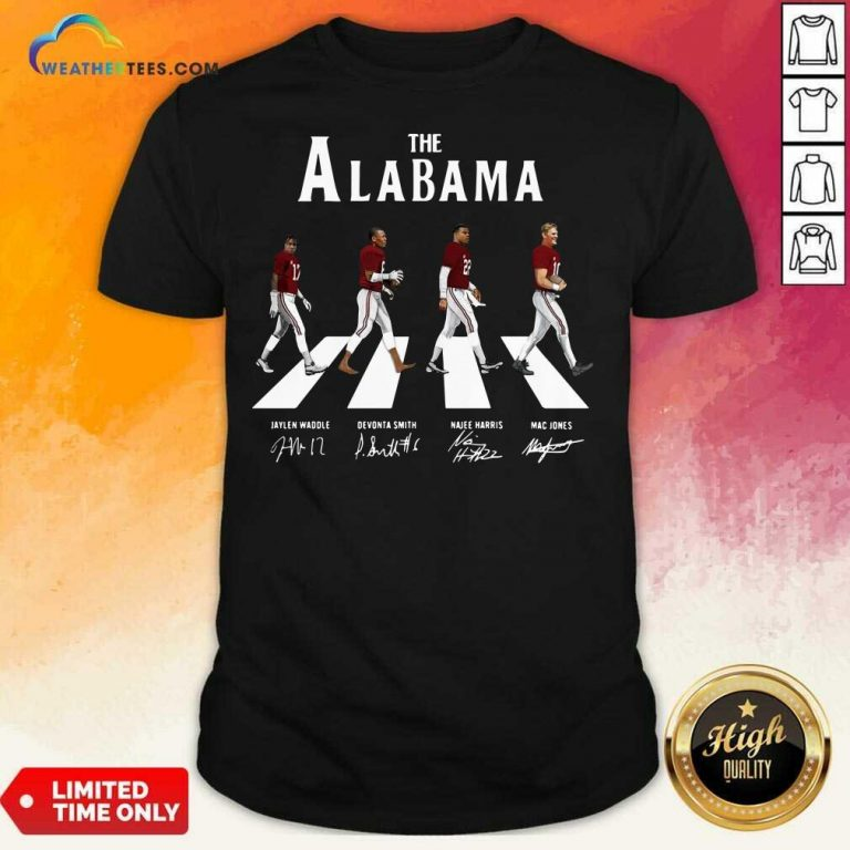 The Alabama Abbey Road Signatures Shirt - Design By Weathertees.com