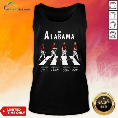 The Alabama Abbey Road Signatures Tank Top - Design By Weathertees.com