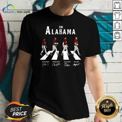 The Alabama Abbey Road Signatures V-neck - Design By Weathertees.com