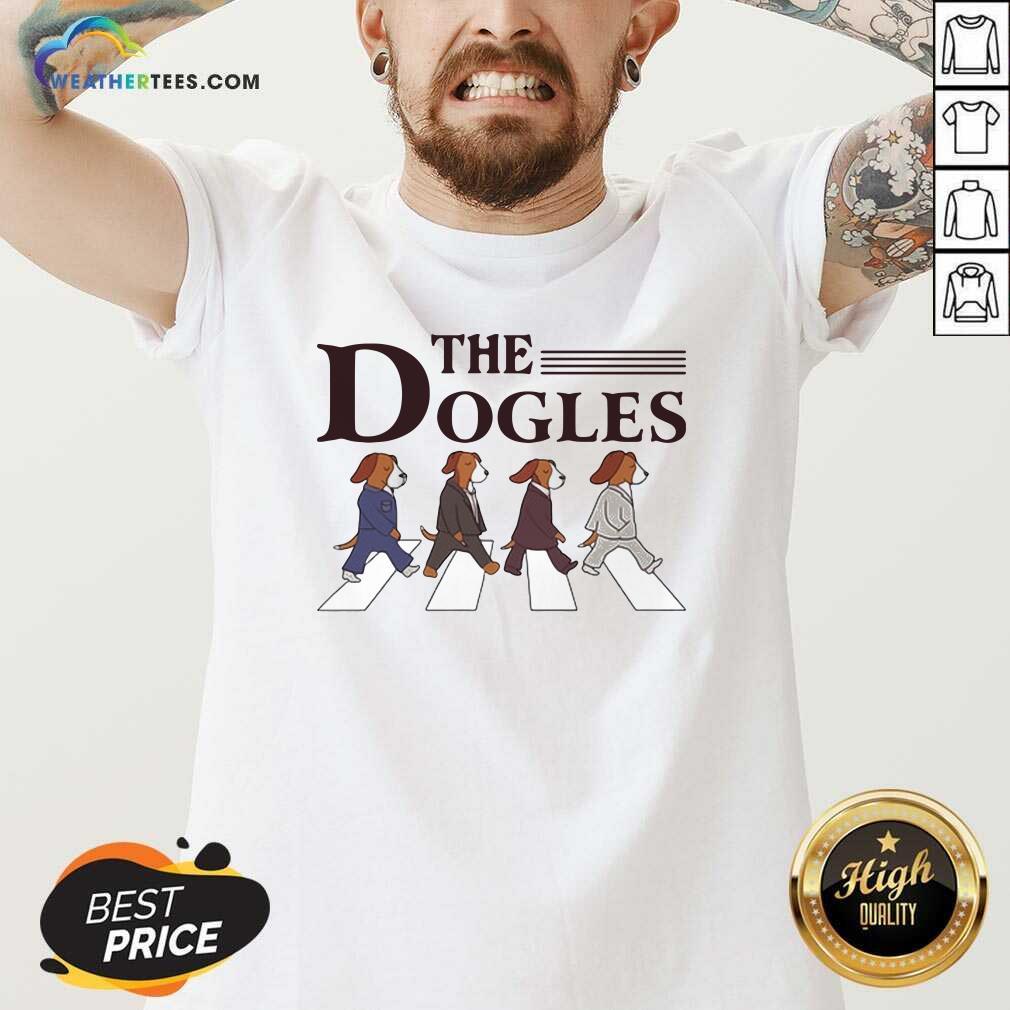 The Dogles Abbey Road V-neck - Design By Weathertees.com