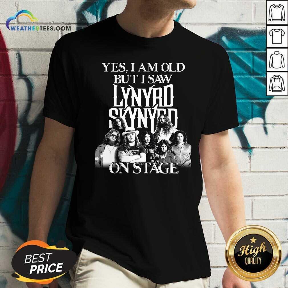 The Lynyrd Skynyrd Yes I'm Old But I Saw On Stage 2021 V-neck - Design By Weathertees.com