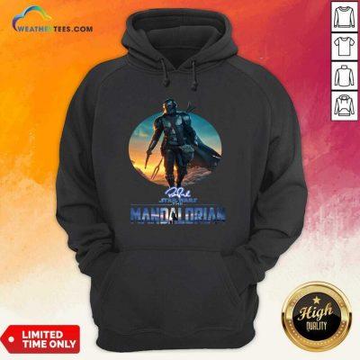 The Mandalorian Star Wars Signature Sunset Hoodie - Design By Weathertees.com