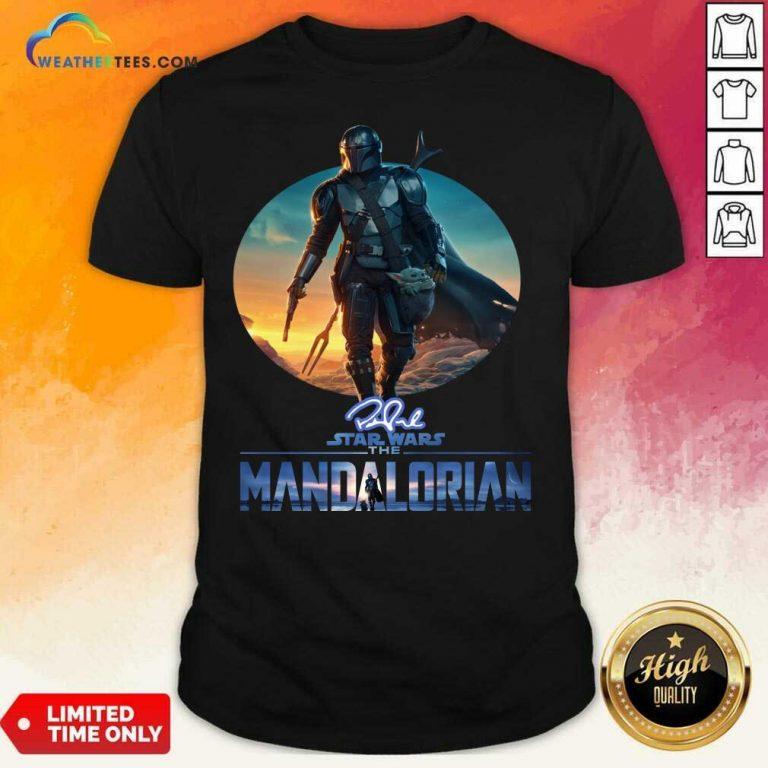 The Mandalorian Star Wars Signature Sunset Shirt - Design By Weathertees.com
