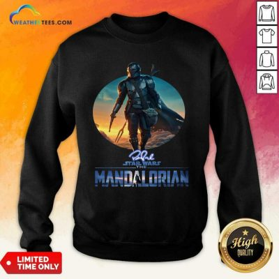 The Mandalorian Star Wars Signature Sunset Sweatshirt - Design By Weathertees.com