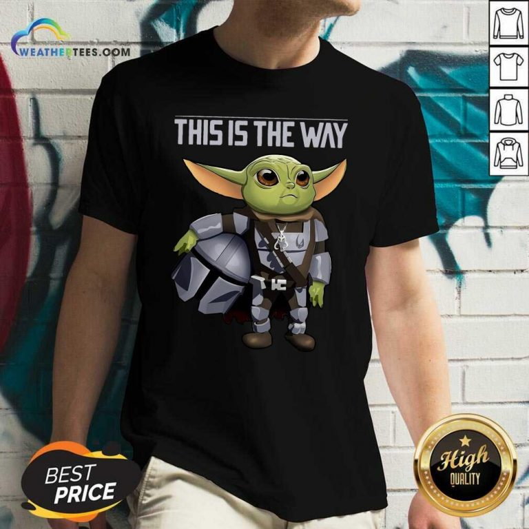 Baby Yoda The Mandalorian This Is The Way V-neck - Design By Weathertees.com