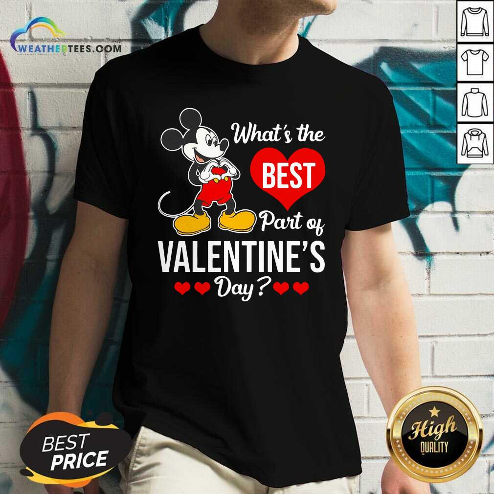 Mickey Mouse Whats The Best Part Of Valentines Day V-neck - Design By Weathertees.com
