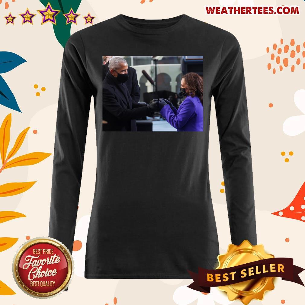 Barack Obama And Kamala Harris Long-sleeved - Design By Weathertees.com