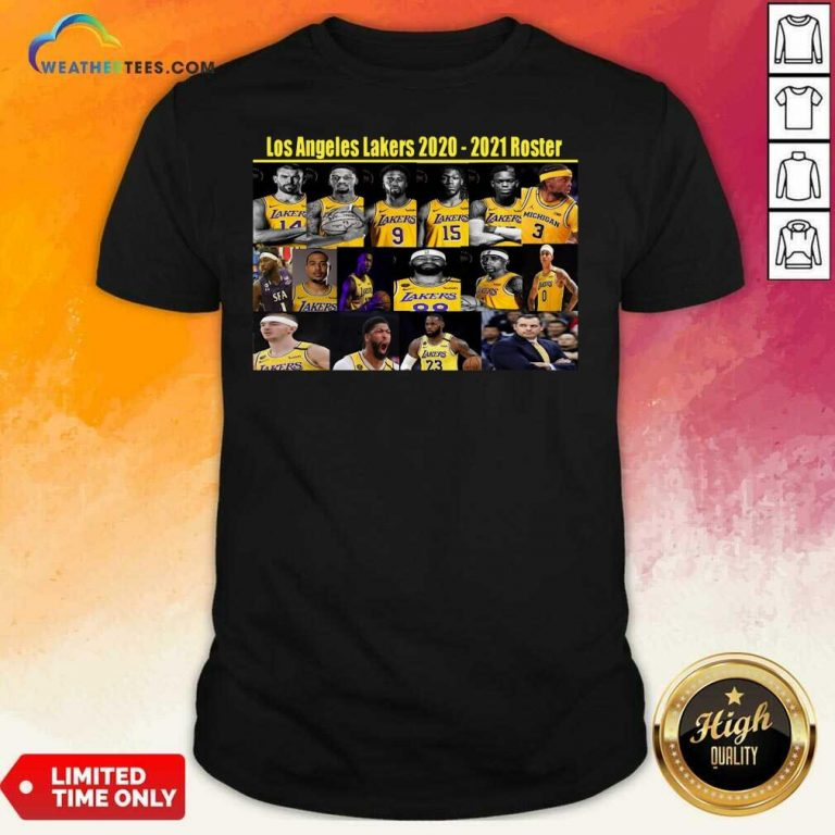 Los Angeles Lakers 2020 2021 Roster Shirt - Design By Weathertees.com