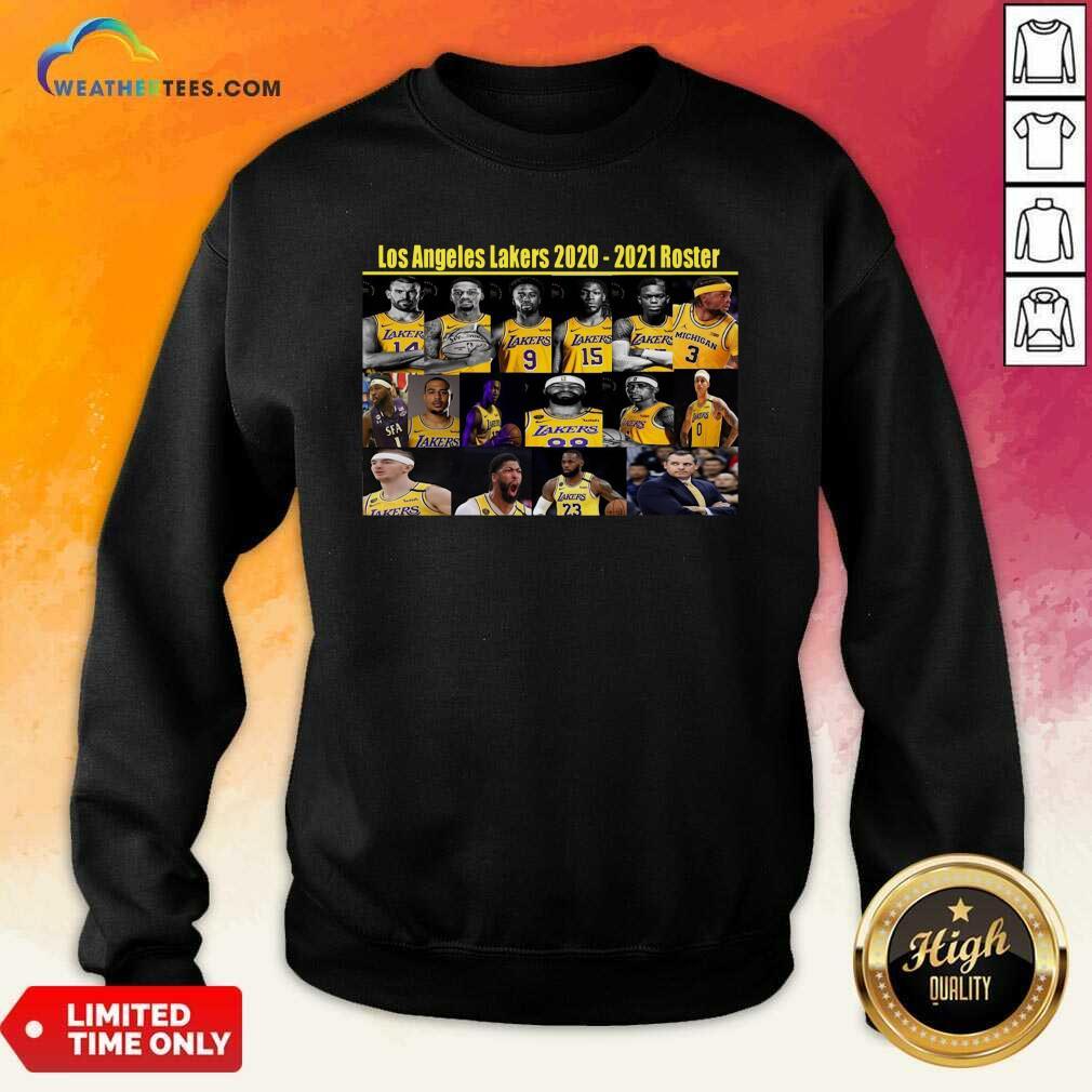Los Angeles Lakers 2020 2021 Roster Sweatshirt - Design By Weathertees.com