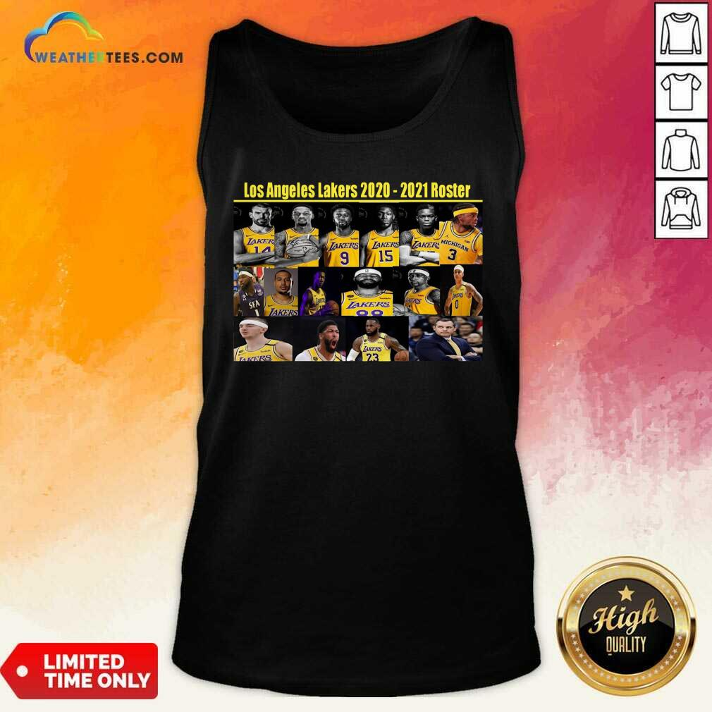 Los Angeles Lakers 2020 2021 Roster Tank Top - Design By Weathertees.com